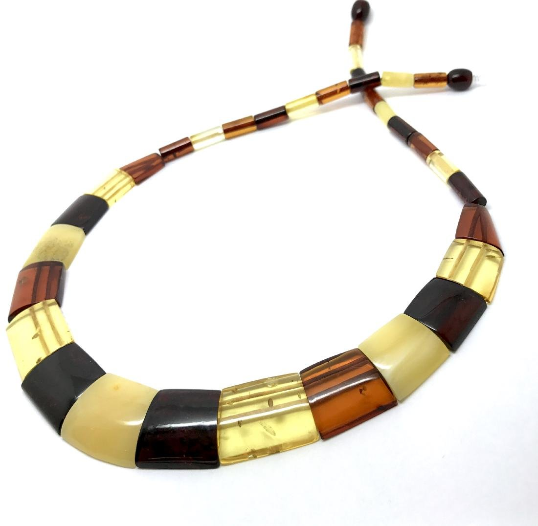 Wide Baltic amber collar necklace 20mm 46cm 20.8 grams - 5
