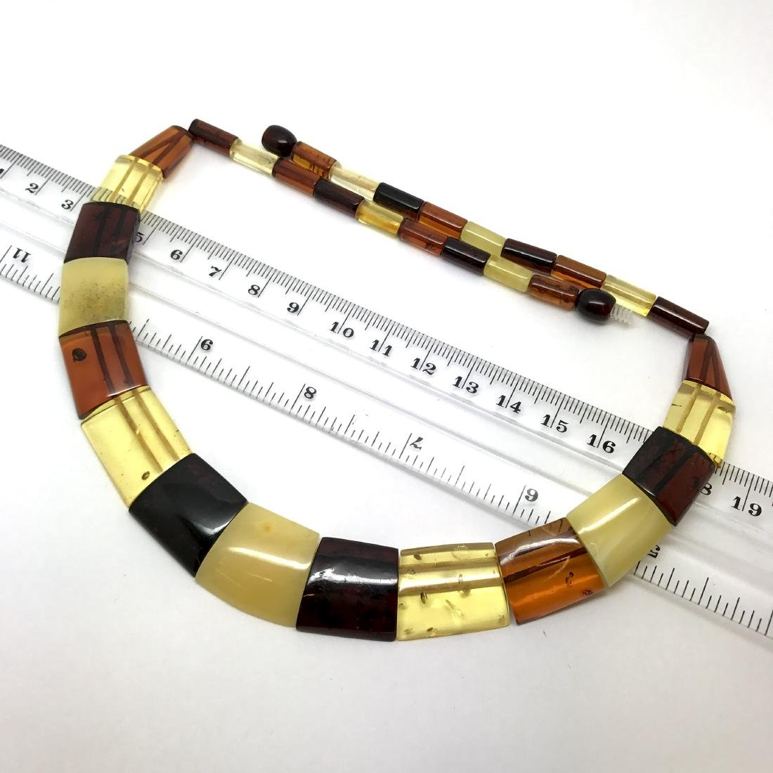 Wide Baltic amber collar necklace 20mm 46cm 20.8 grams - 6