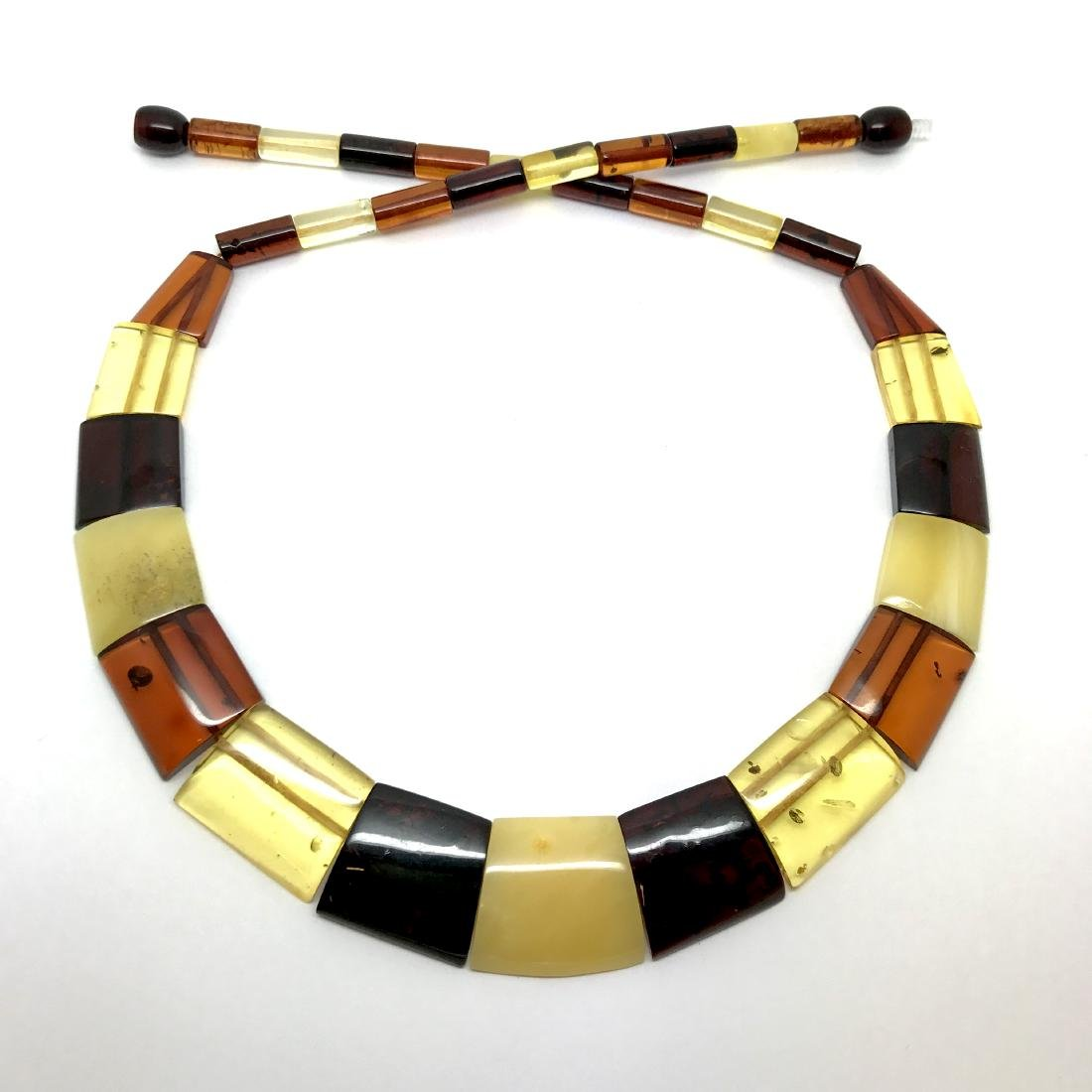 Wide Baltic amber collar necklace 20mm 46cm 20.8 grams - 7