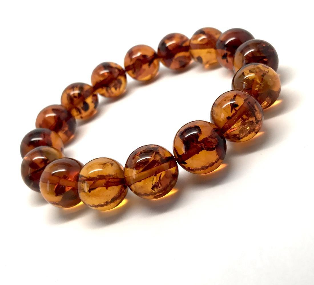 Bracelet Baltic amber beads ø13.5 mm 20 gr - 4