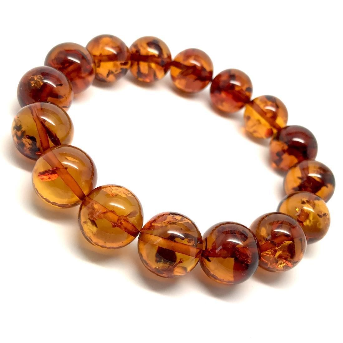 Bracelet Baltic amber beads ø13.5 mm 20 gr - 5