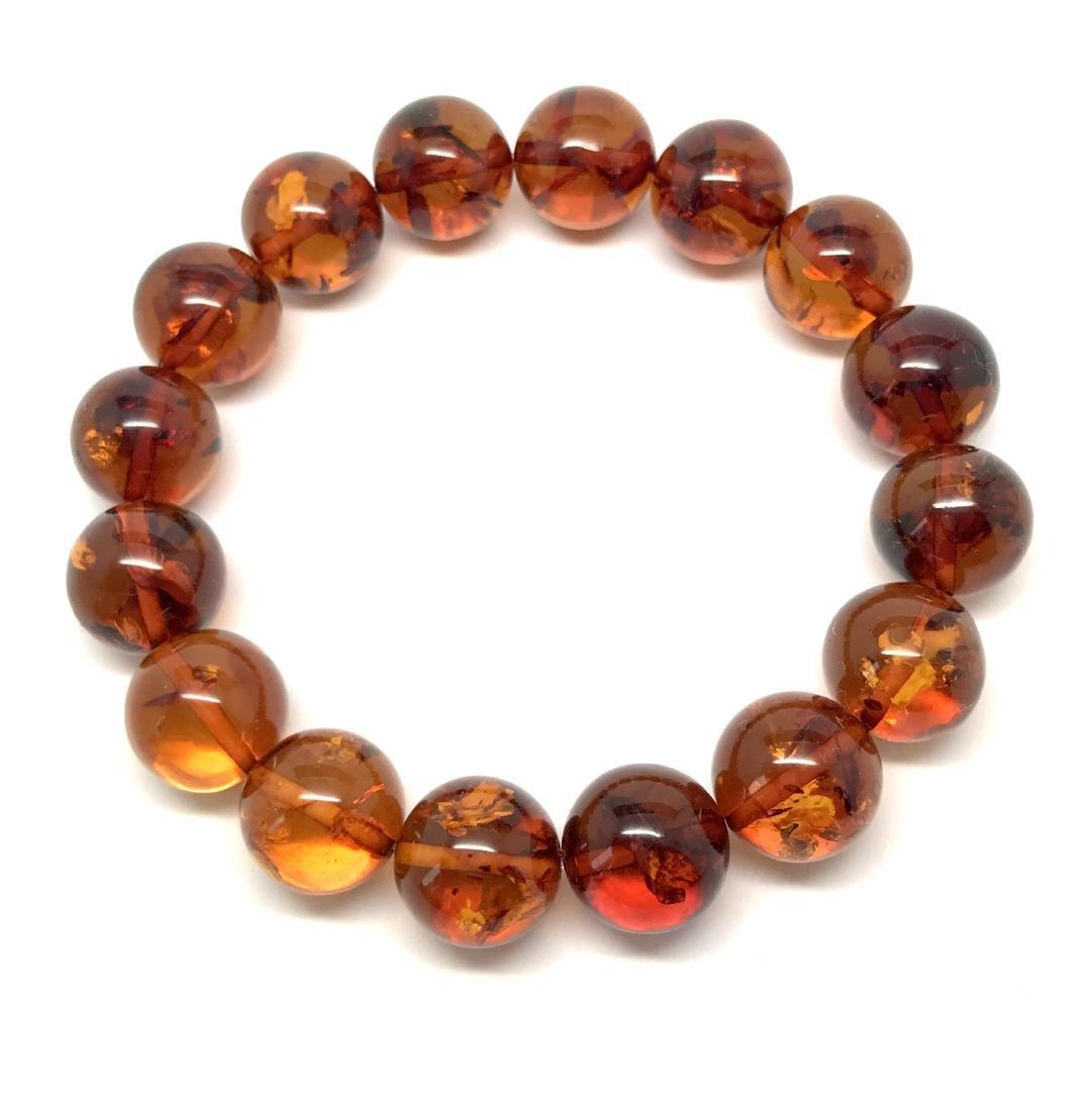 Bracelet Baltic amber beads ø13.5 mm 20 gr - 6