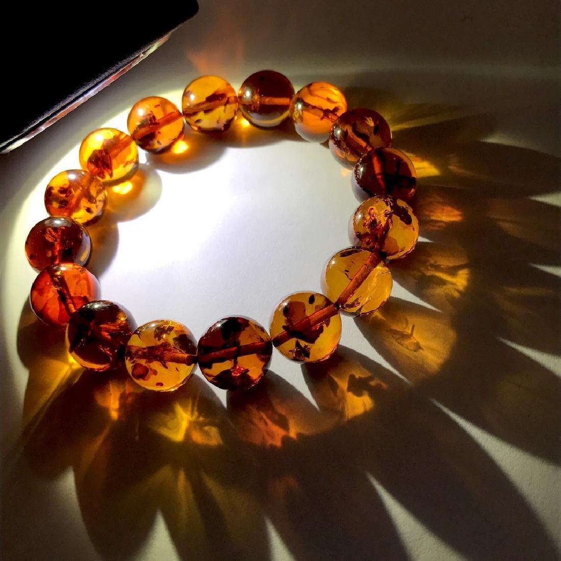 Bracelet Baltic amber beads ø13.5 mm 20 gr - 7