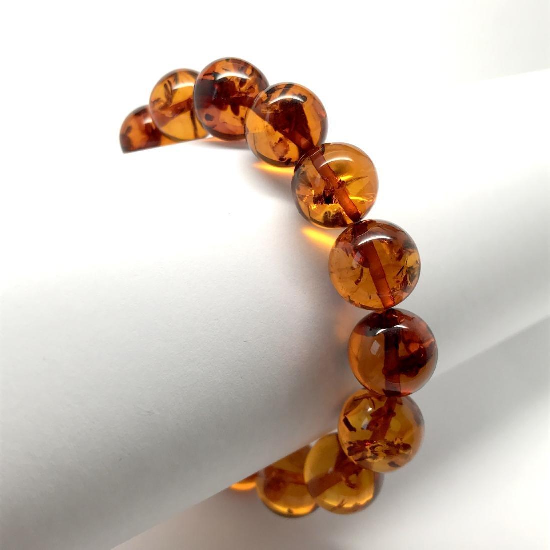 Bracelet Baltic amber beads ø13.5 mm 20 gr - 8