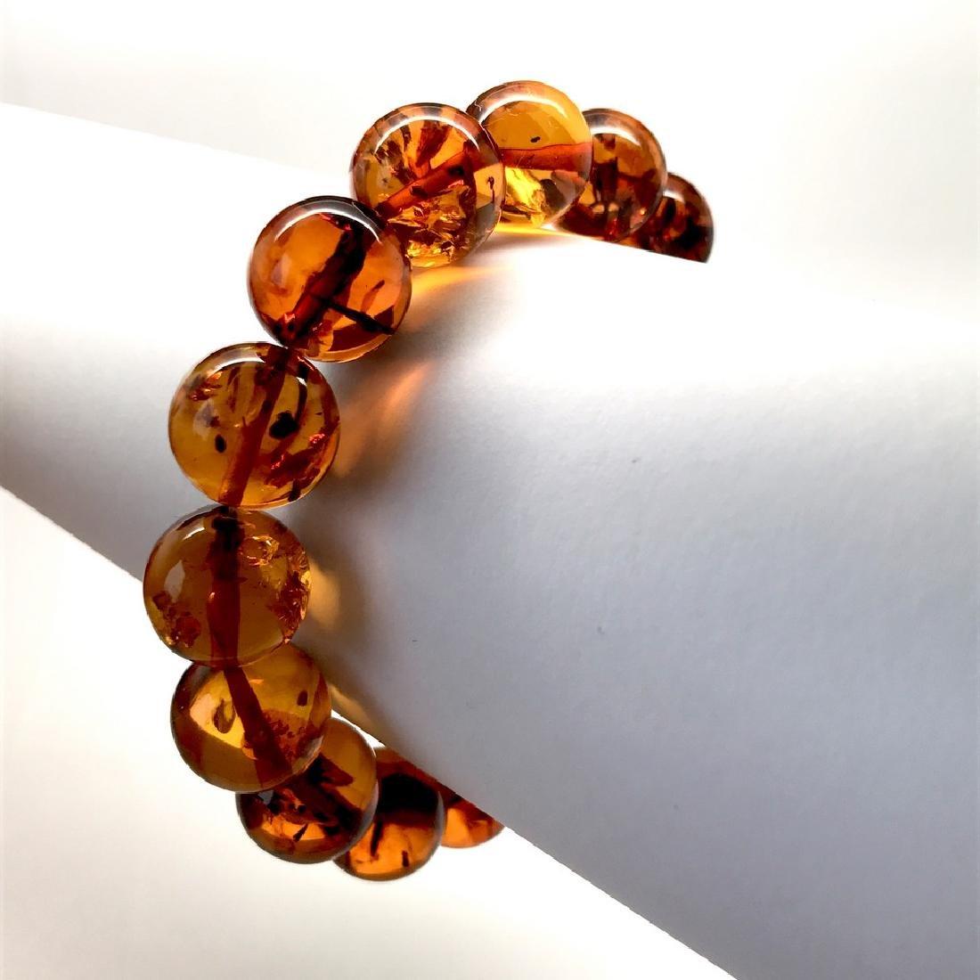 Bracelet Baltic amber beads ø13.5 mm 20 gr - 9
