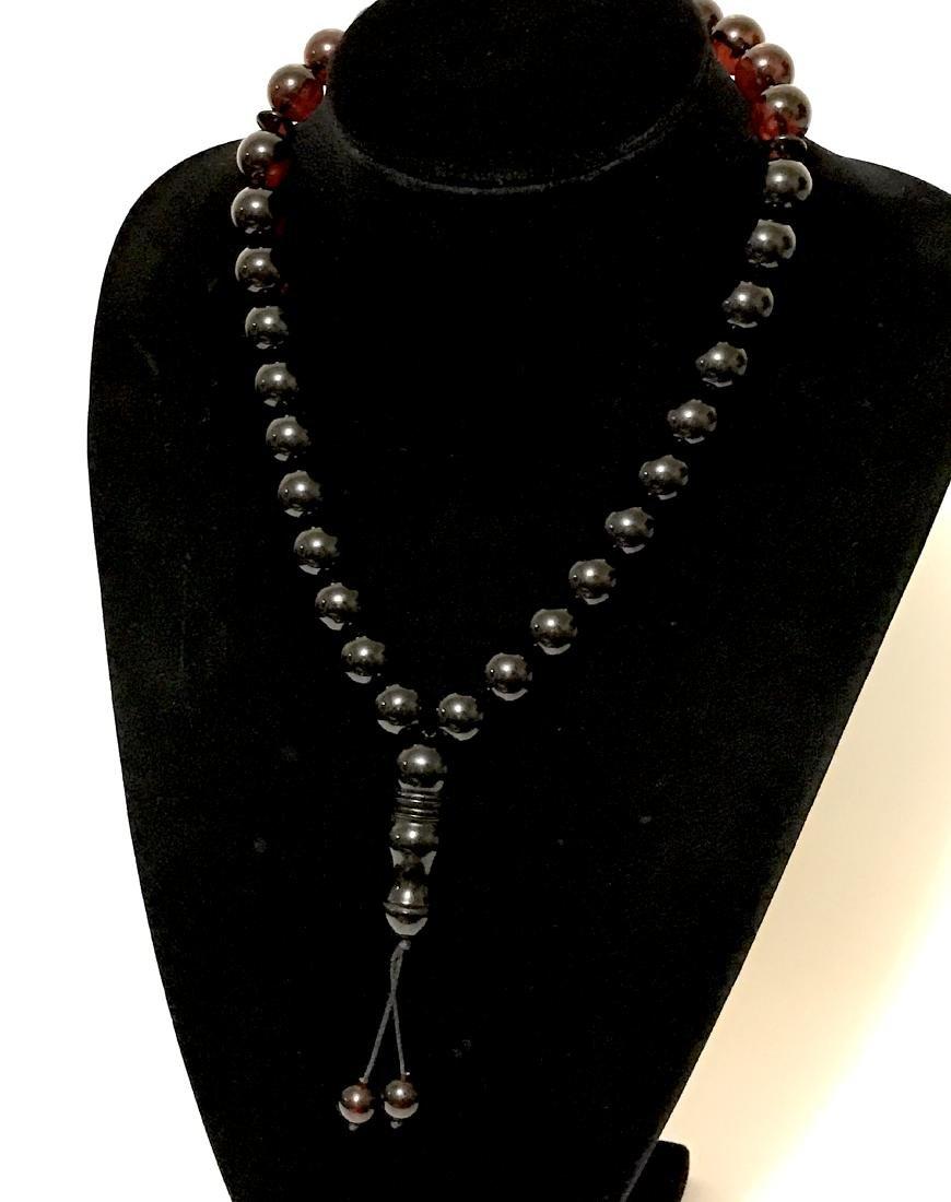 Tesbih rosary 33 Baltic amber cherry beads ø15mm 73.8 - 10