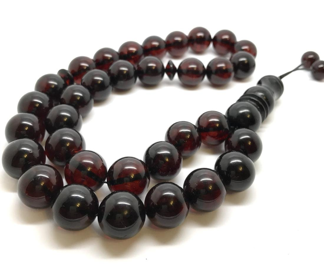 Tesbih rosary 33 Baltic amber cherry beads ø15mm 73.8
