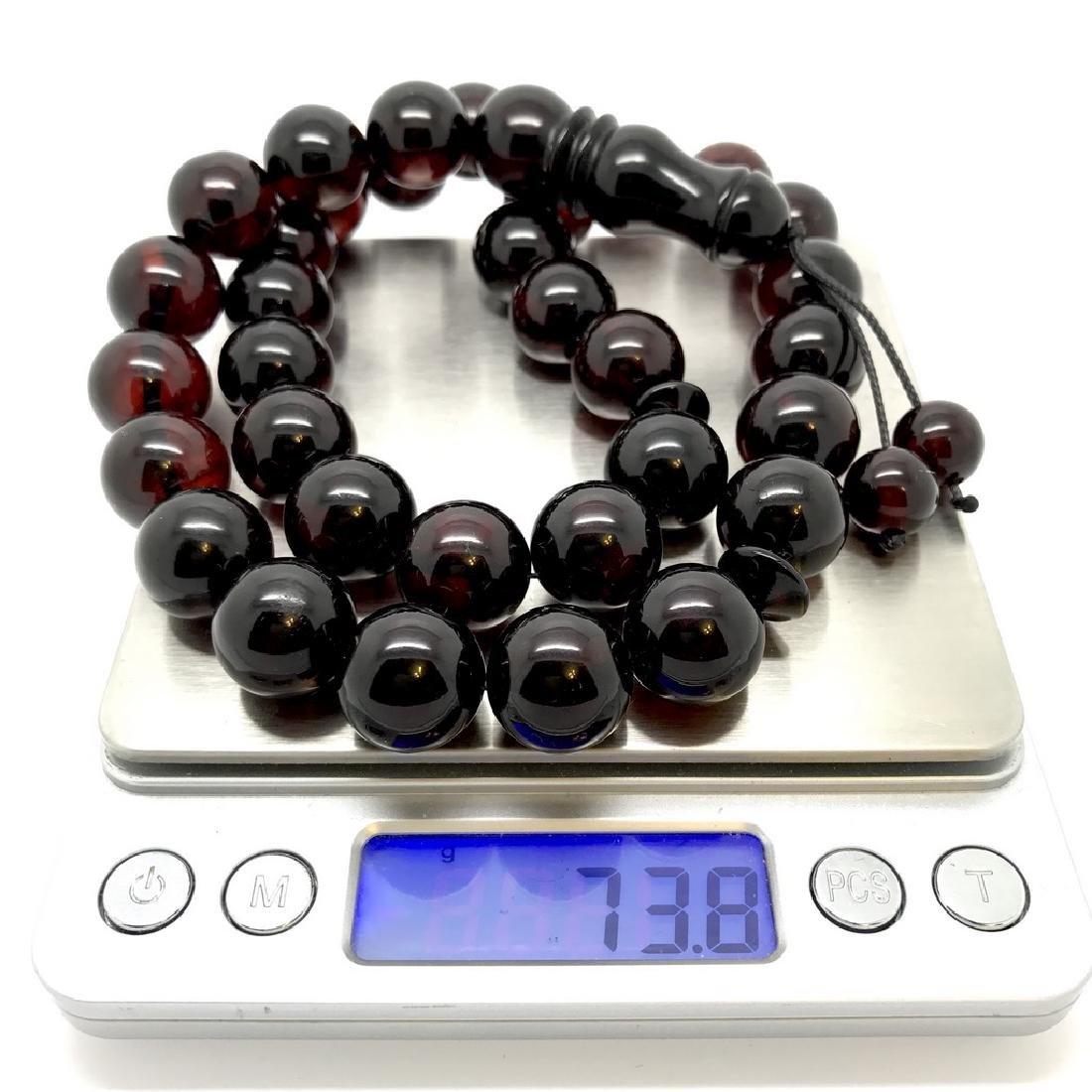 Tesbih rosary 33 Baltic amber cherry beads ø15mm 73.8 - 2