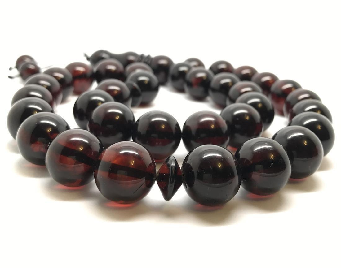 Tesbih rosary 33 Baltic amber cherry beads ø15mm 73.8 - 3