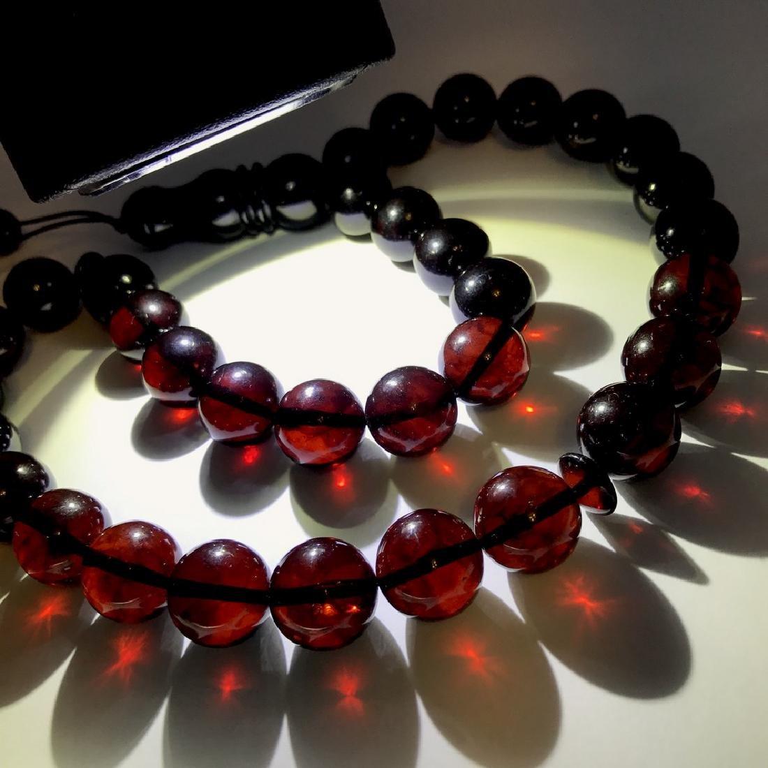 Tesbih rosary 33 Baltic amber cherry beads ø15mm 73.8 - 6