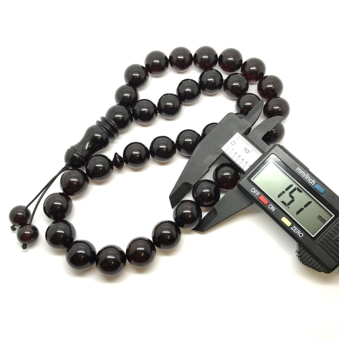 Tesbih rosary 33 Baltic amber cherry beads ø15mm 73.8 - 7