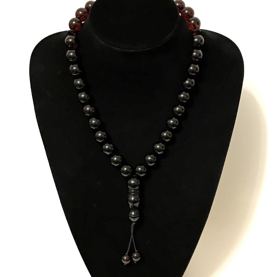 Tesbih rosary 33 Baltic amber cherry beads ø15mm 73.8 - 9