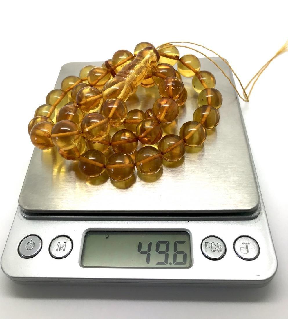 Misbaha tesbih Baltic amber honey 45 beads ø12mm 49.6 - 7