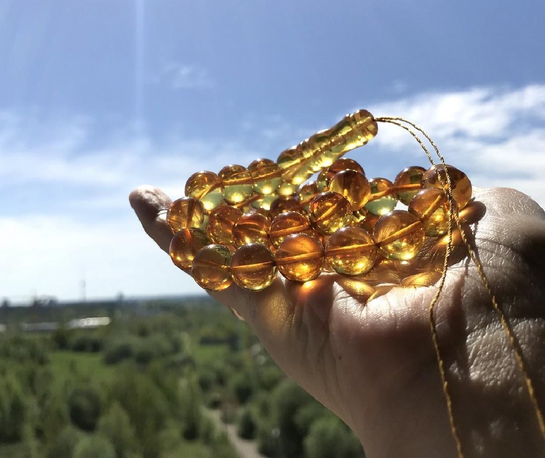 Misbaha tesbih Baltic amber honey 45 beads ø12mm 49.6 - 8