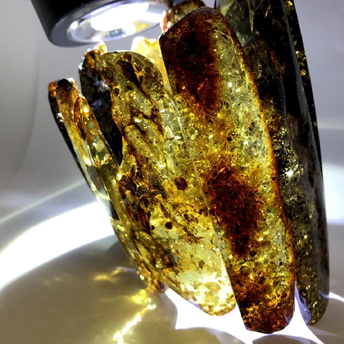 Exclusiwe old Baltic Amber Bracelet 193 gr - 10