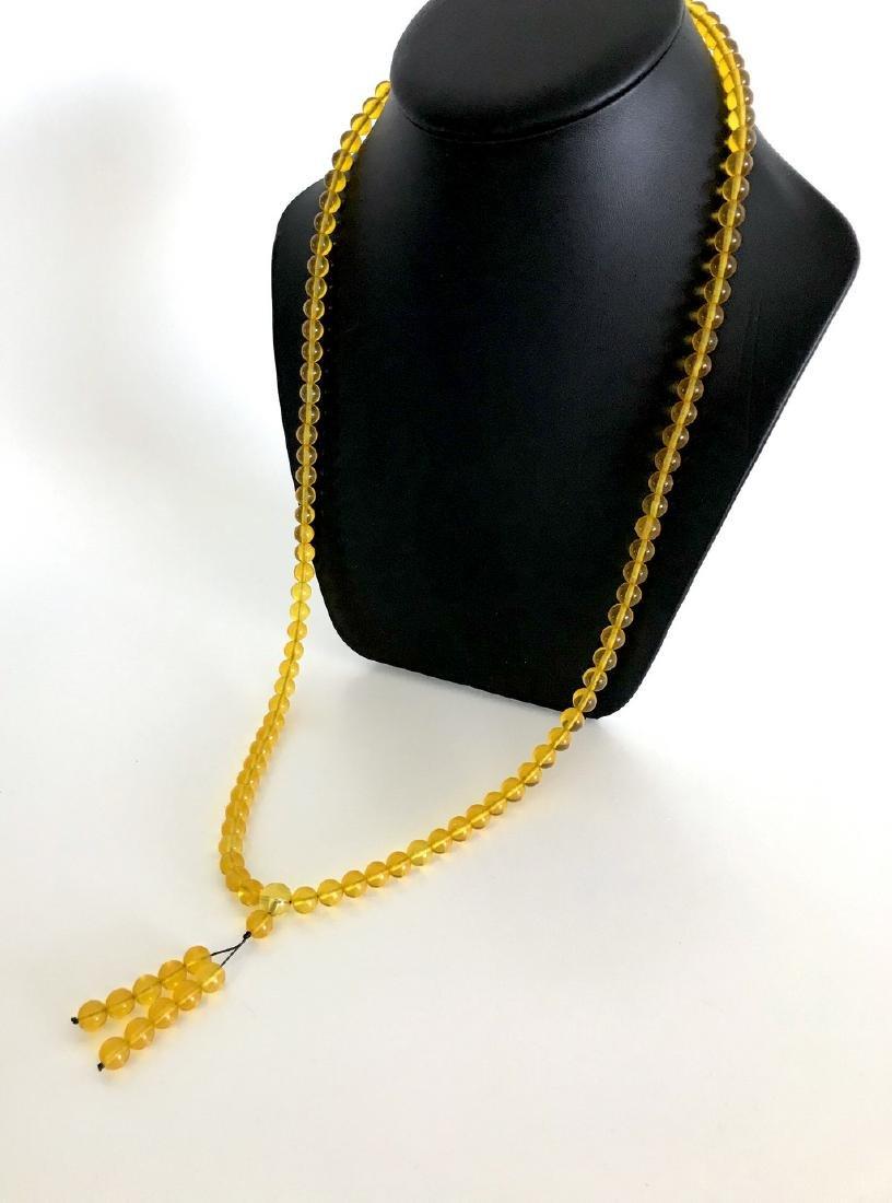 Tibetan japa mala Baltic amber golden 108 beads ø8mm 37