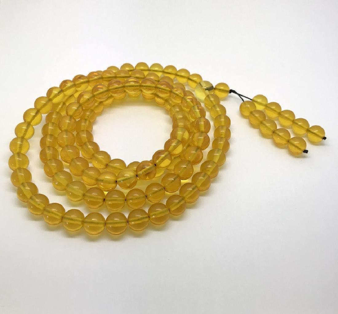 Tibetan japa mala Baltic amber golden 108 beads ø8mm 37 - 2