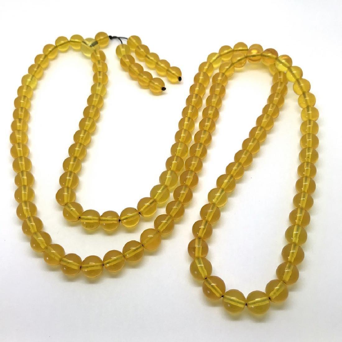 Tibetan japa mala Baltic amber golden 108 beads ø8mm 37 - 4