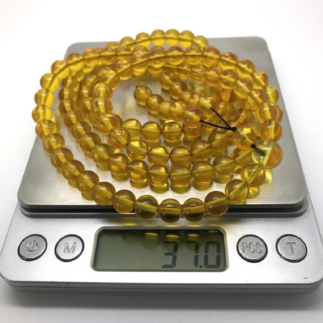 Tibetan japa mala Baltic amber golden 108 beads ø8mm 37 - 5
