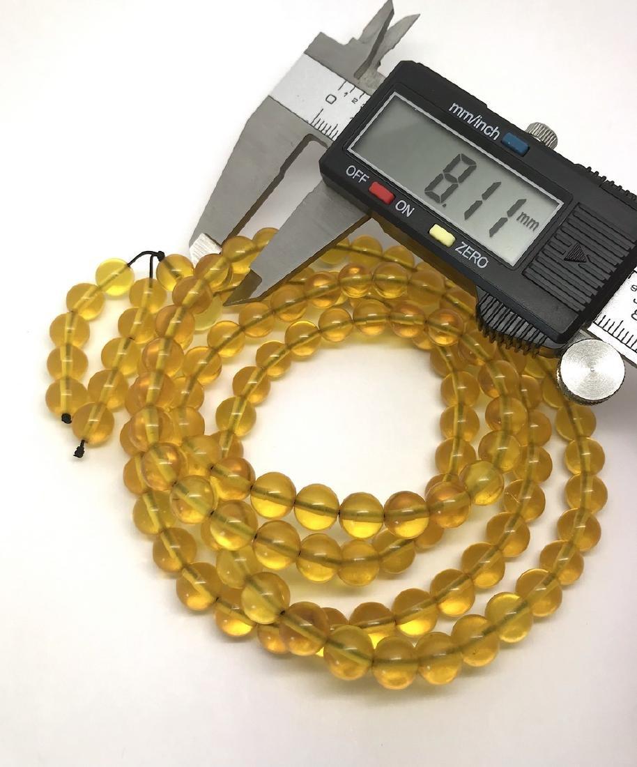 Tibetan japa mala Baltic amber golden 108 beads ø8mm 37 - 6