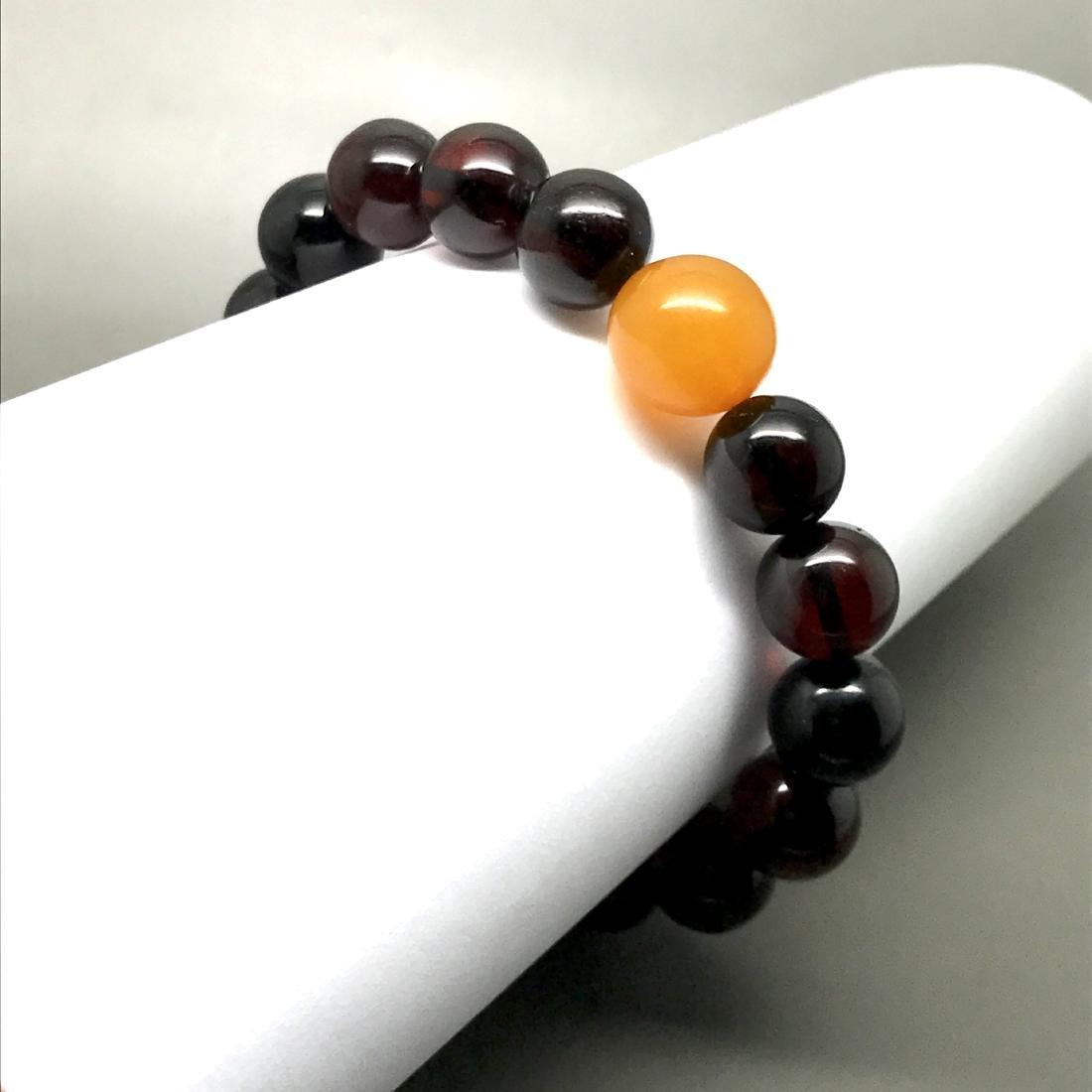 Bracelet vintage Baltic amber cherry&butterscotch beads - 10