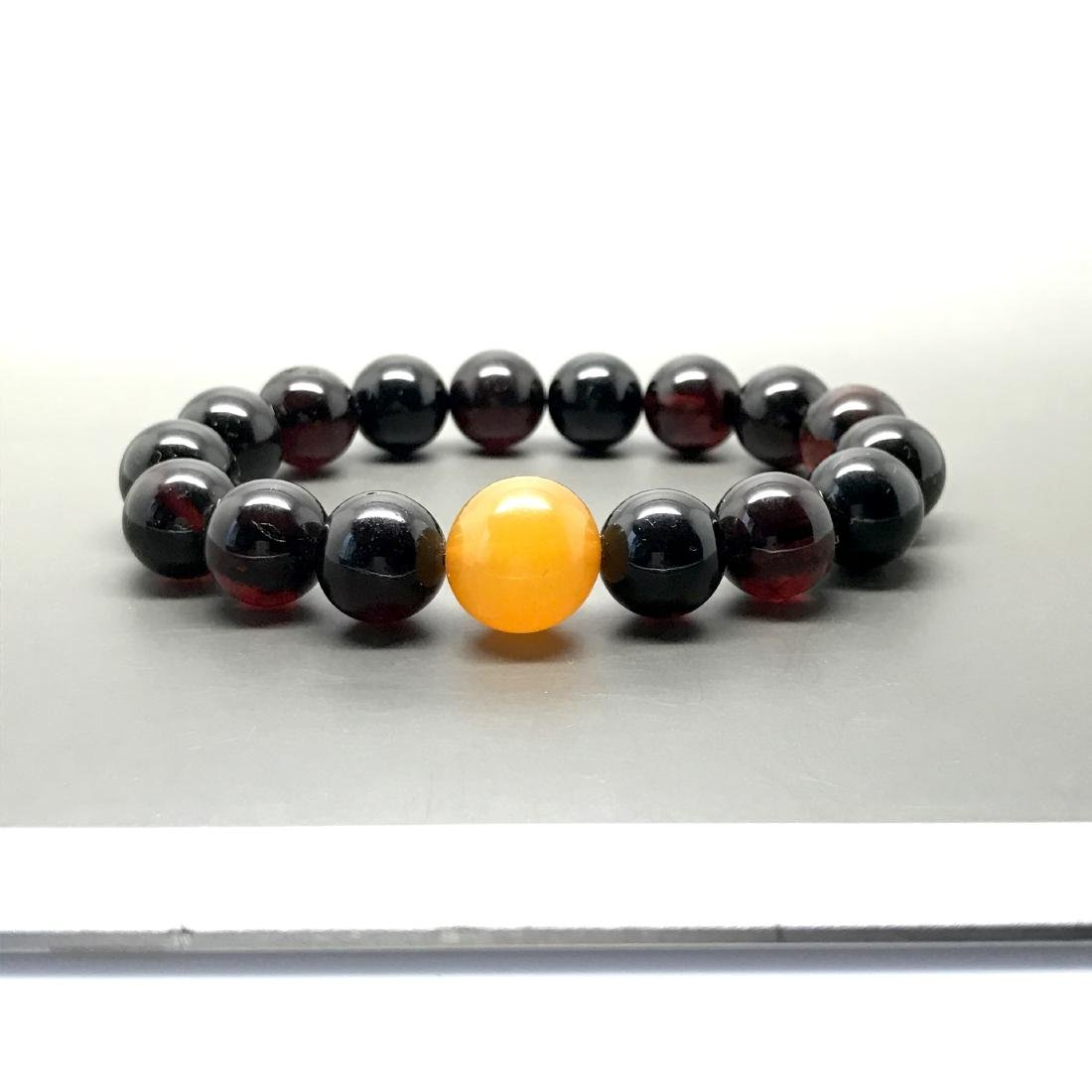 Bracelet vintage Baltic amber cherry&butterscotch beads