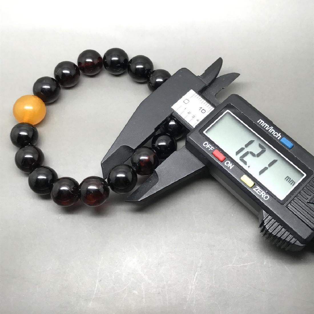 Bracelet vintage Baltic amber cherry&butterscotch beads - 8