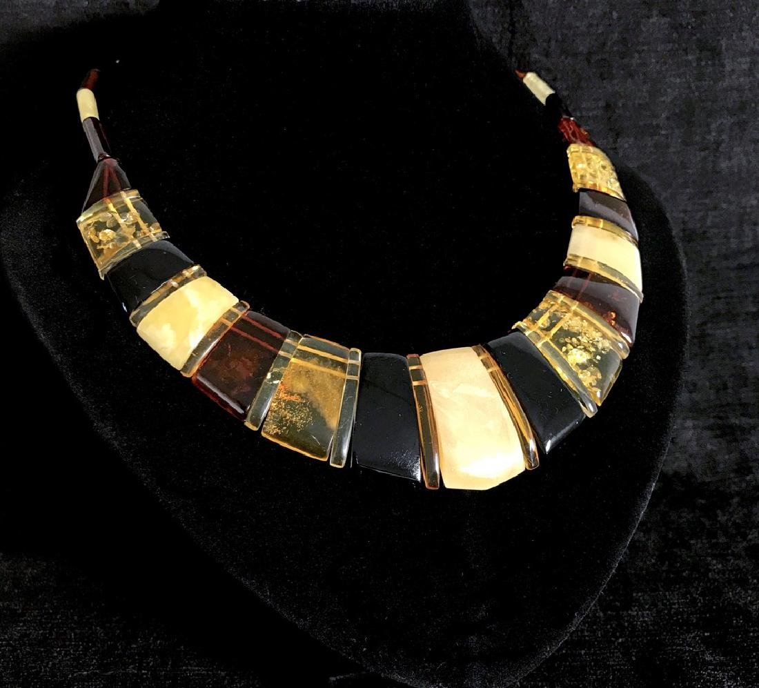 Luxury Collar Baltic amber wide necklace 35mm 47cm