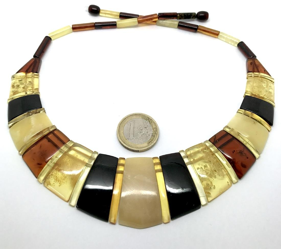 Luxury Collar Baltic amber wide necklace 35mm 47cm - 4
