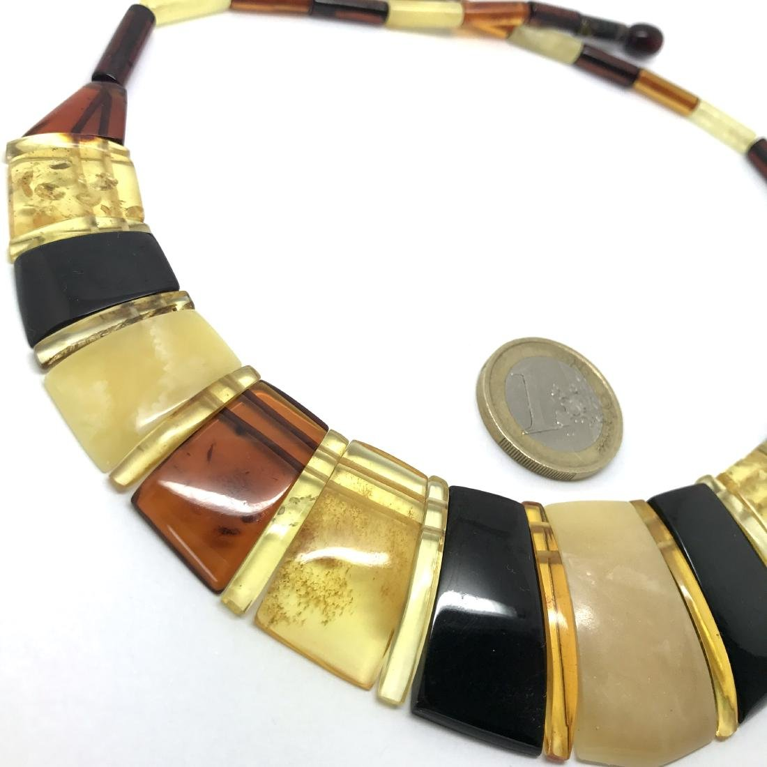 Luxury Collar Baltic amber wide necklace 35mm 47cm - 5