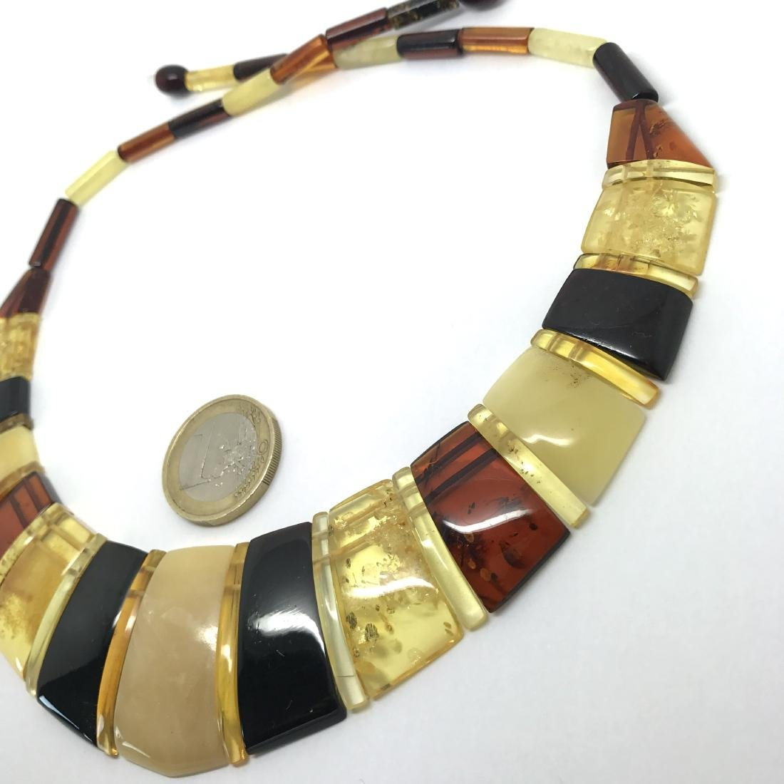 Luxury Collar Baltic amber wide necklace 35mm 47cm - 6