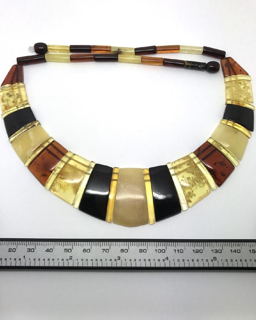 Luxury Collar Baltic amber wide necklace 35mm 47cm - 7