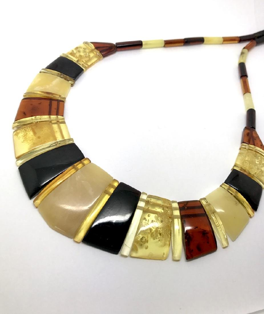 Luxury Collar Baltic amber wide necklace 35mm 47cm - 8