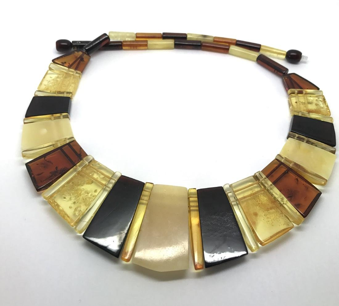 Luxury Collar Baltic amber wide necklace 35mm 47cm - 9