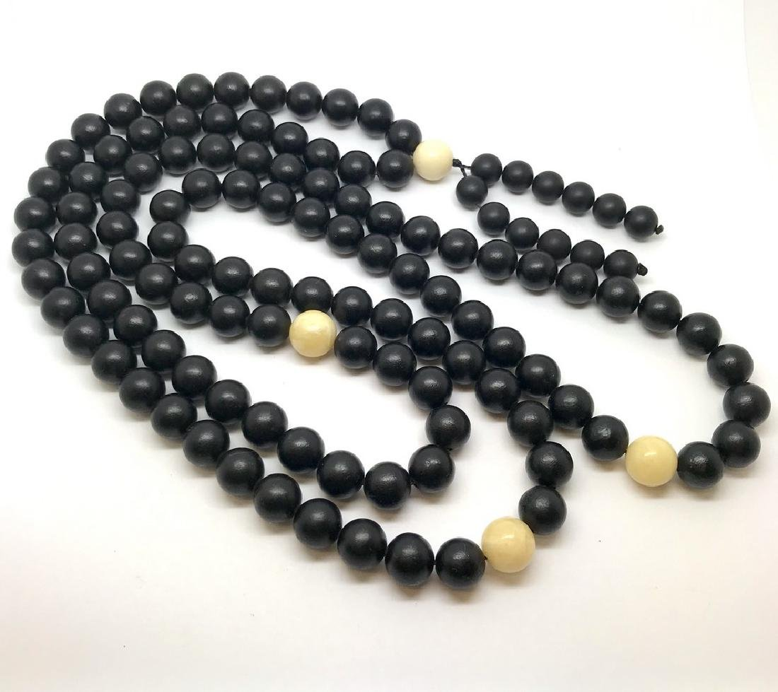 Japa mala necklace Baltic amber black beads ø10mm 73 - 8