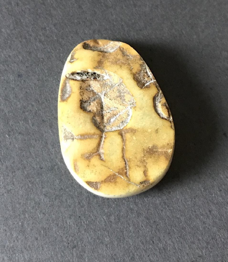 Rare white Baltic amber cabochon 38x26x10mm - 2