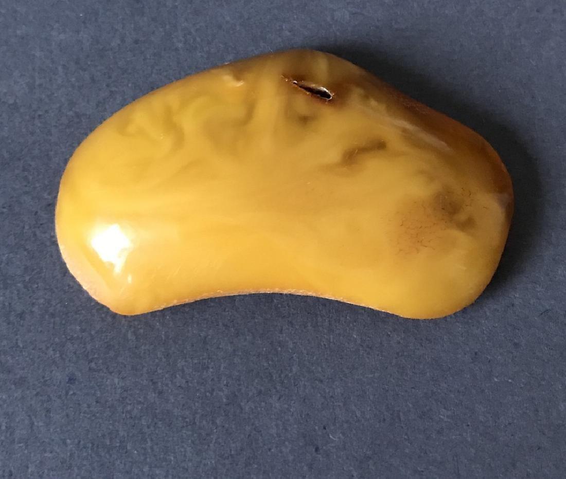 Antique Baltic amber cabochon egg yolk 62x35x13mm