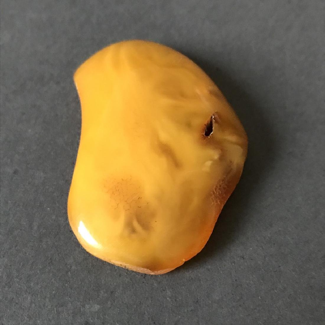 Antique Baltic amber cabochon egg yolk 62x35x13mm - 4