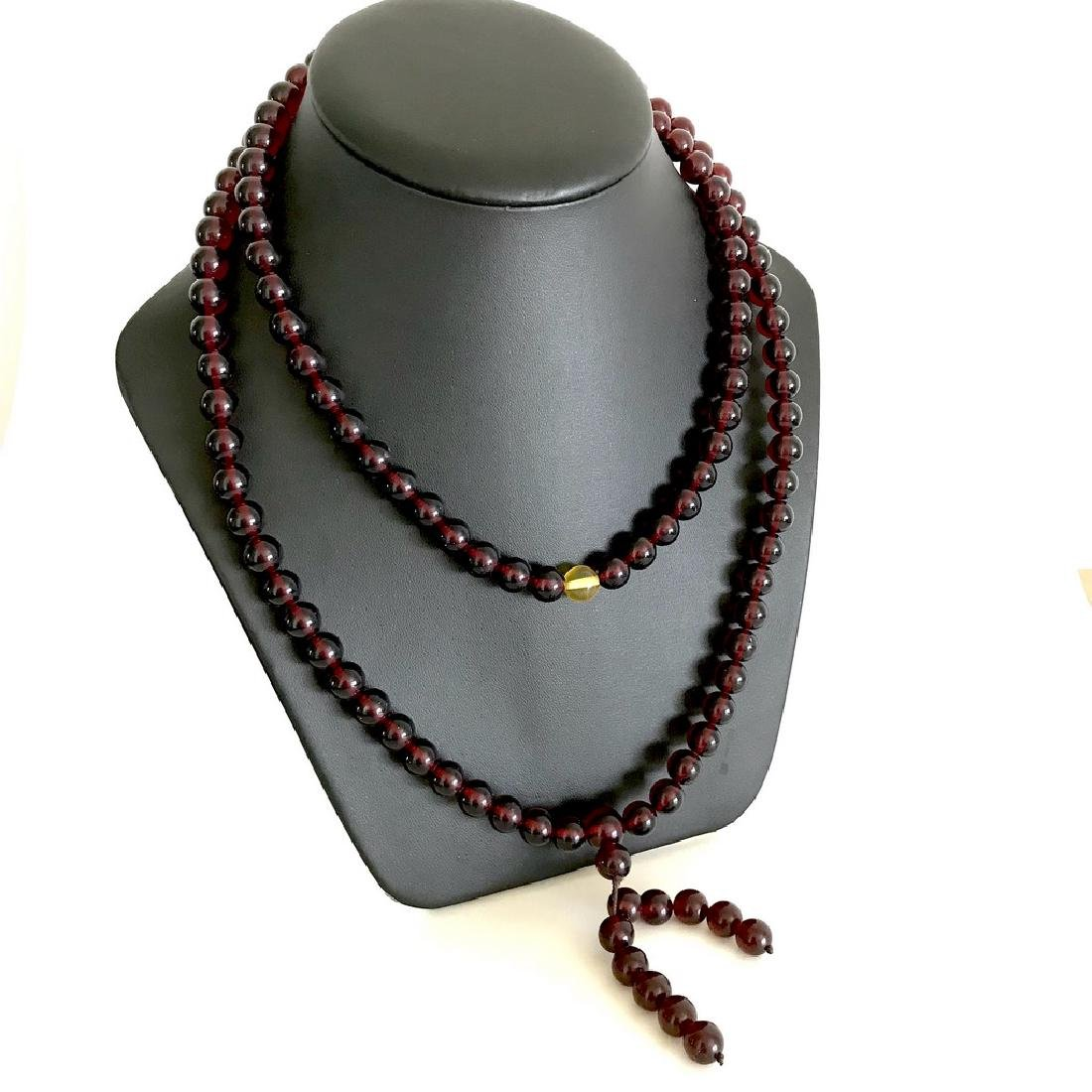Tibetan japa mala Baltic amber cherry beads ø10mm 80
