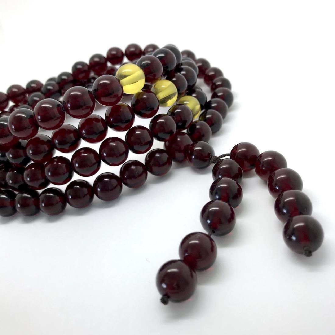 Tibetan japa mala Baltic amber cherry beads ø10mm 80 - 3