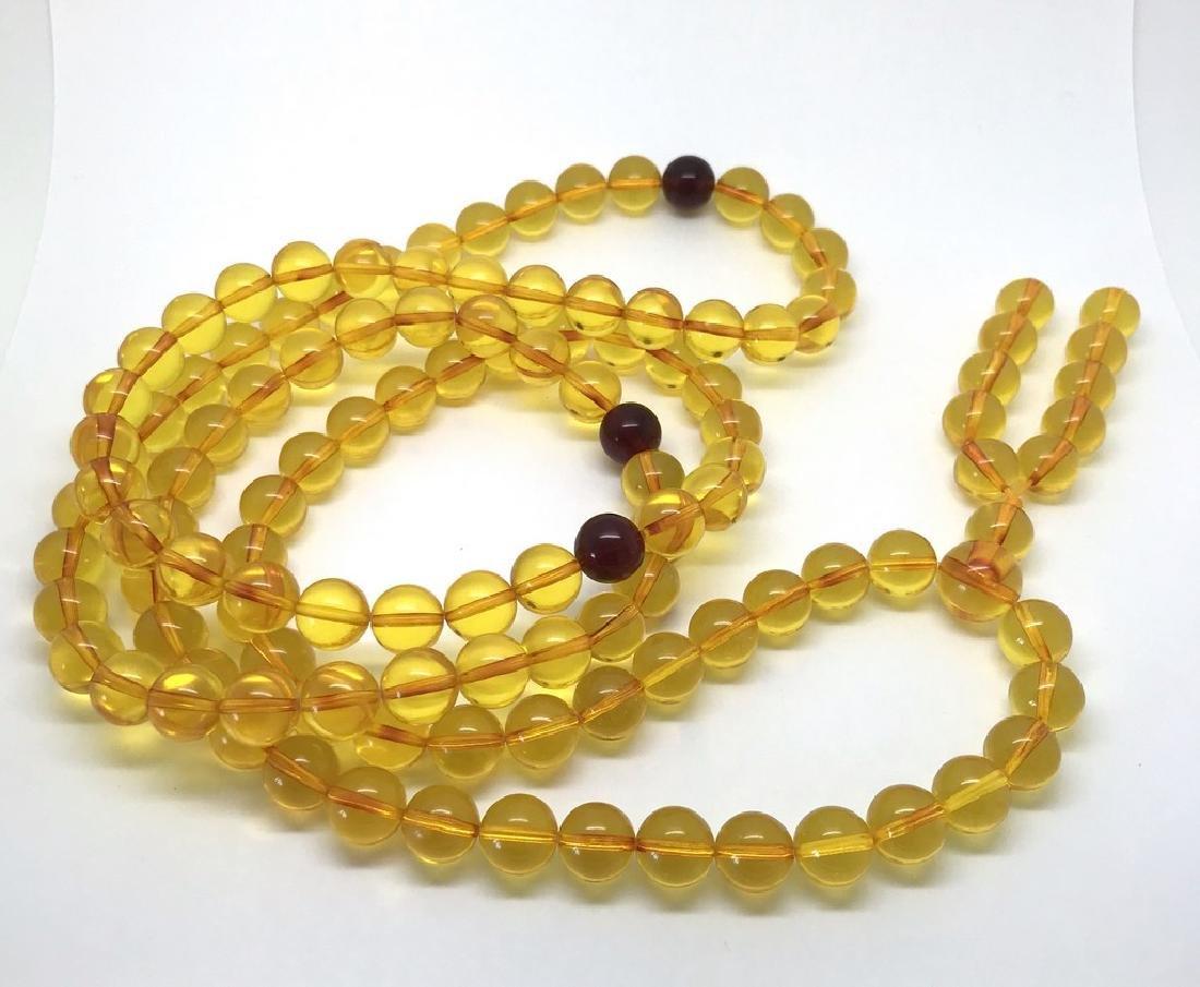 Tibetan japa mala Baltic amber golden 108 beads ø10mm - 3