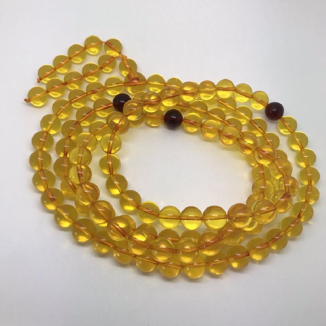 Tibetan japa mala Baltic amber golden 108 beads ø10mm - 4