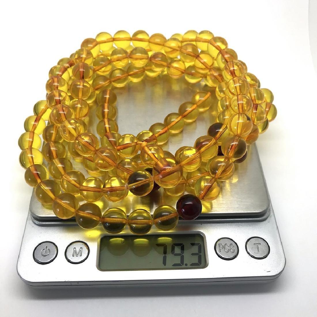 Tibetan japa mala Baltic amber golden 108 beads ø10mm - 8