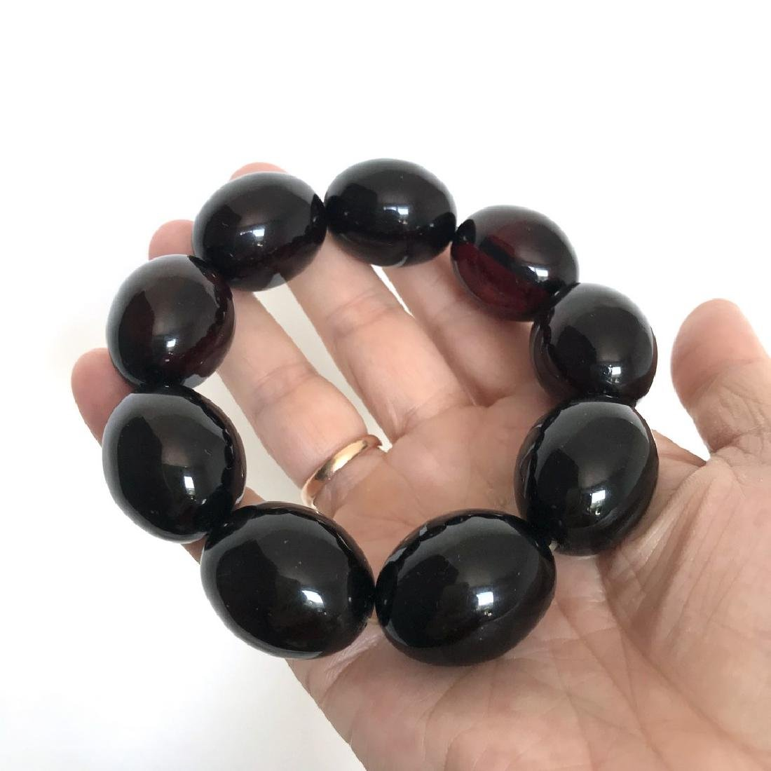 Exclusive size Baltic amber beads cherry colour - 5