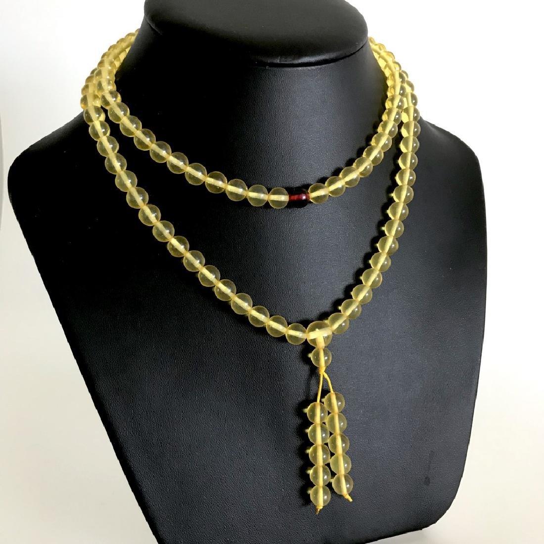 Tibetan japa mala Baltic amber honey 108 beads ø8mm 40