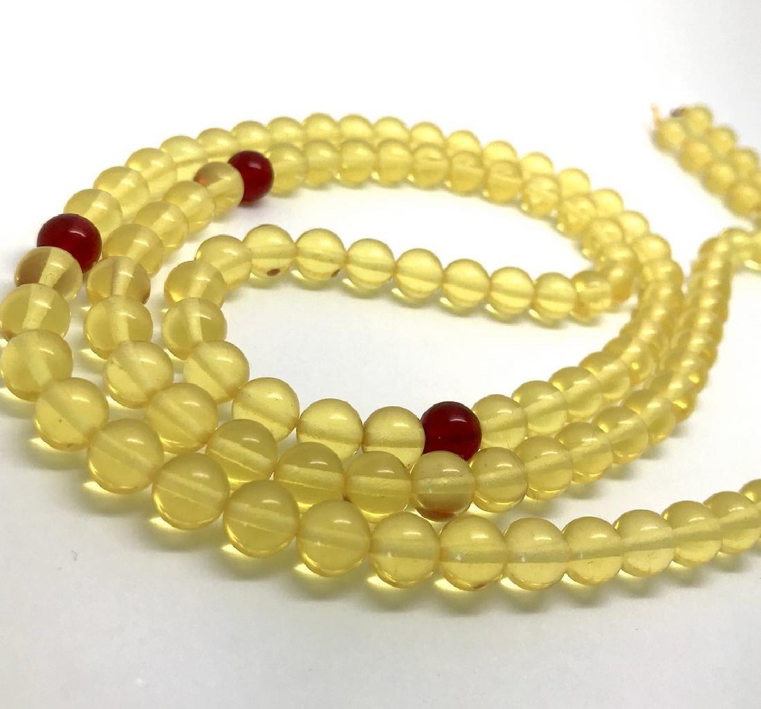 Tibetan japa mala Baltic amber honey 108 beads ø8mm 40 - 3