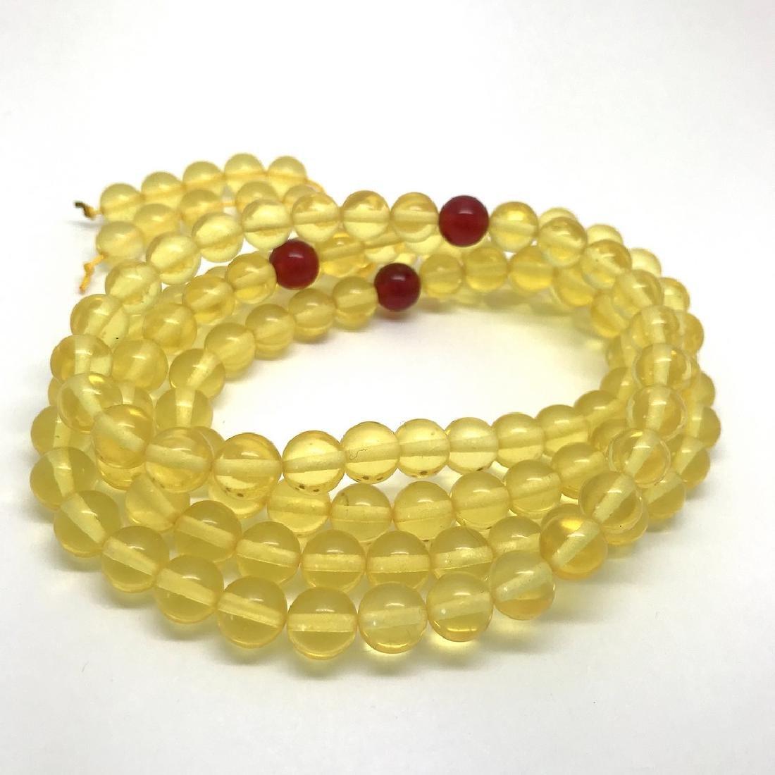 Tibetan japa mala Baltic amber honey 108 beads ø8mm 40 - 4