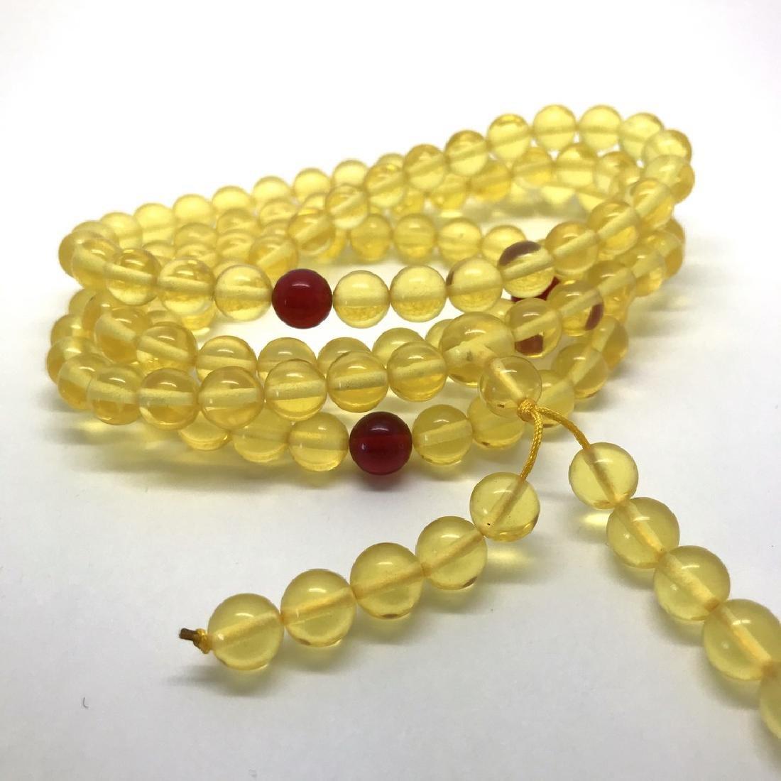 Tibetan japa mala Baltic amber honey 108 beads ø8mm 40 - 6