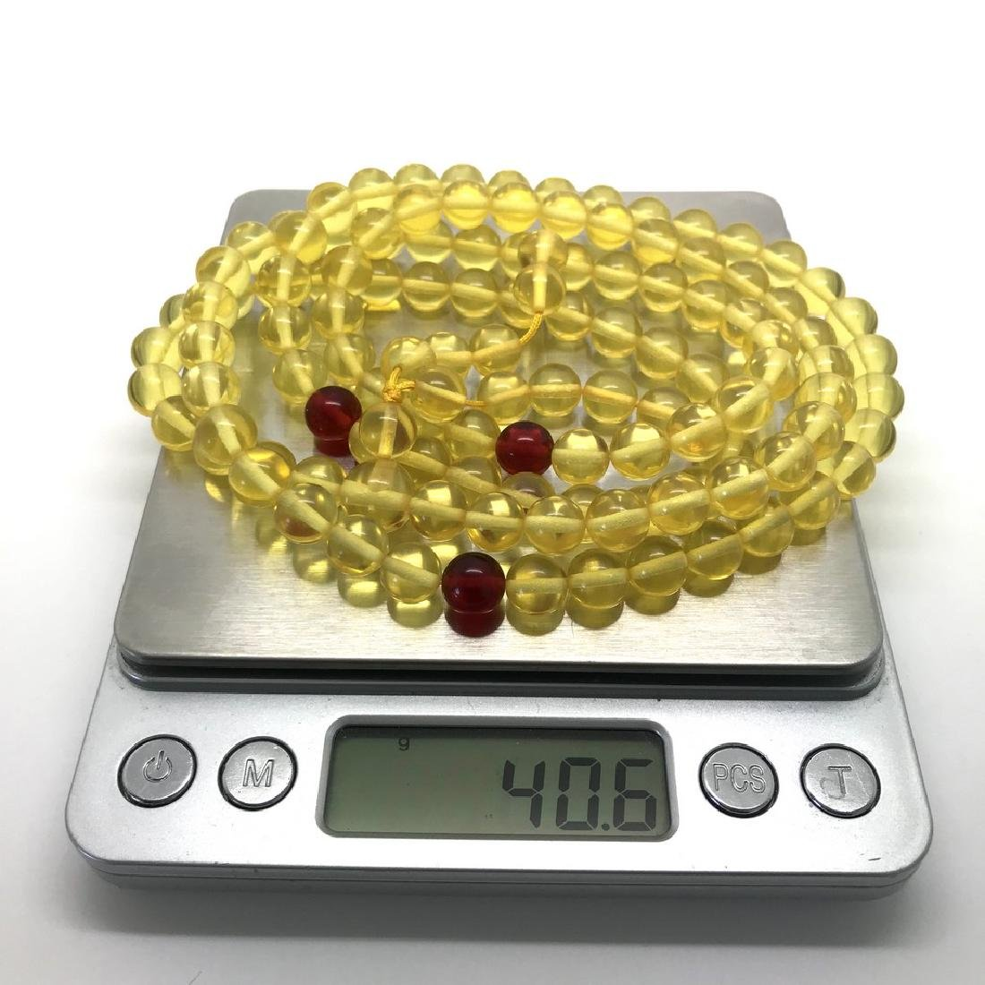 Tibetan japa mala Baltic amber honey 108 beads ø8mm 40 - 9