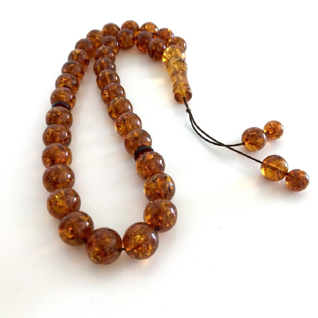 Misbaha tesbih Baltic amber cognac 33 beads ø14mm 59